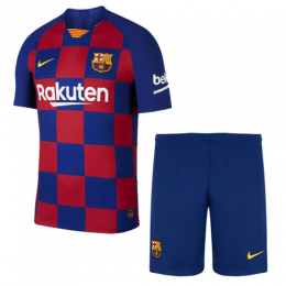 19-20 Barcelona Home Blue&Red Soccer Jerseys Kit(Shirt+Short),