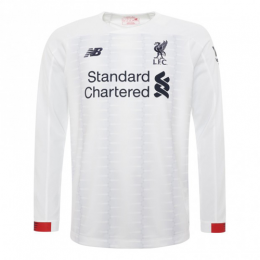 19-20 Liverpool Away White Soccer Jerseys Shirt		