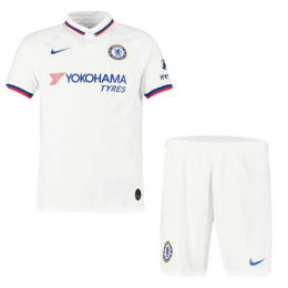 19/20 Chelsea Away White Soccer Jerseys Kit(Shirt+Short),