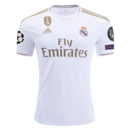 19-20 UCL Real Madrid Home White Soccer Jerseys Shirt