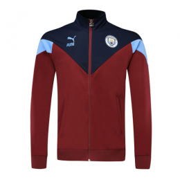 19/20 Manchester City Dark Red Training Jacket