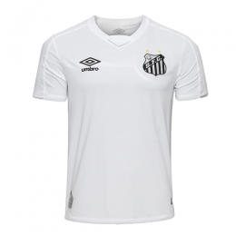19-20 Santos Home White Soccer Jerseys Shirt