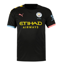 19-20 Manchester City Away Black Jerseys Shirt,