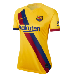 19/20 Barcelona Away Yellow Women's Jerseys Shirt