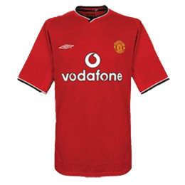 00/02 Manchester United Home Red Retro Jerseys Shirt