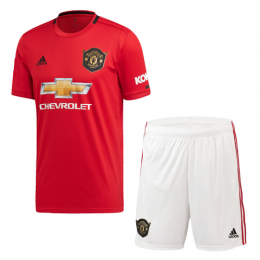 19-20 Manchester United Home Red Jerseys Kit(Shirt+Short)