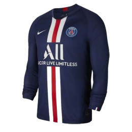 19/20 PSG Home Navy Long Sleeve Soccer Jerseys Shirt,