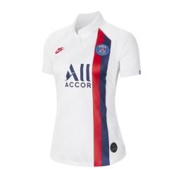 19/20 PSG Third Away White Women's Soccer Jerseys Shirt	,