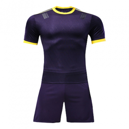 Customize Team Purple&Yellow Player Version Soccer Jerseys Kit(Shirt+Short)