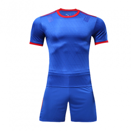 Customize Team Blue&Red Player Version Soccer Jerseys Kit(Shirt+Short)