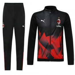 19/20 AC Milan Black&Red High Neck Collar Training Kit(Jacket+Trouser)