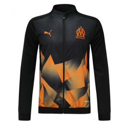 19/20 Marseilles Black&Orange High Neck Collar Training Jacket