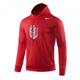 2019 USA NK 4-Star Crest Red Hoodie Sweater