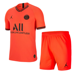 19/20 PSG JORDAN Away Red&Orange Soccer Jerseys Kit(Shirt+Short),