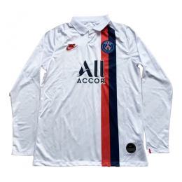 19/20 PSG Third Away White Long Sleeve Soccer Jerseys Shirt,