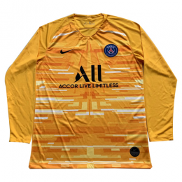 19/20 PSG Away Red&Orange Long Sleeve Soccer Jerseys Shirt,