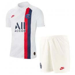 19/20 PSG Third Away White Soccer Jerseys Kit(Shirt+Short),