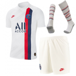 19/20 PSG Third Away White Soccer Jerseys Whole Kit(Shirt+Short+Socks),