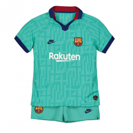 19/20 Barcelona Third Away Blue Children's Jerseys Kit(Shirt+Short)