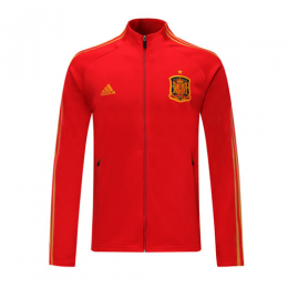 2019 Spain Red High Neck Collar Training Jacket		