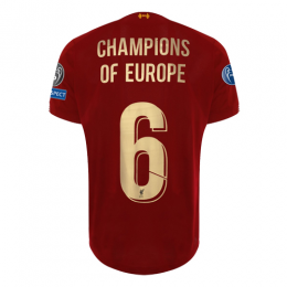 19/20 Liverpool Home Red Champions of Europe #6 Jerseys Shirt