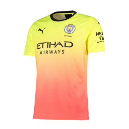 19/20 Manchester City Third Away Yellow&Orange Jerseys Shirt(Player Version)