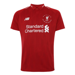 18/19 Liverpool 6 Time Euro Red Soccer Jerseys Shirt