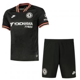 19/20 Chelsea Third Away Black Soccer Jerseys Kit(Shirt+Short),