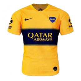19/20 Boca Juniors Away Yellow Soccer Jerseys Shirt(Player Version)