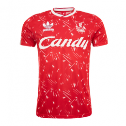89/91 Liverpool Home Red Retro Jerseys Shirt