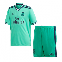 19-20 Real Madrid Third Away Green Soccer Jerseys Kit(Shirt+Short),