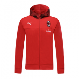 19/20 AC Milan Red Hoodie Jacket	