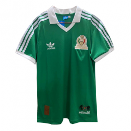 1986 World Cup Mexico Home Green Retro Soccer Jerseys Shirt