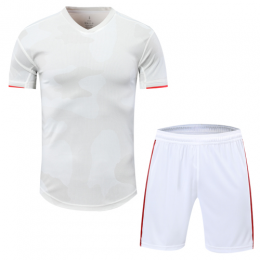 Juventus Style Customize Team Gray&White Soccer Jerseys Kit(Shirt+Short)