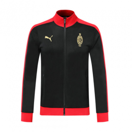 19/20 AC Milan Black High Neck Collar Training Jacket		