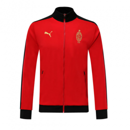 19/20 AC Milan Red High Neck Collar Training Jacket