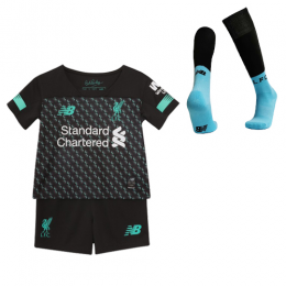 19-20 Liverpool Third Away Black&Blue Children's Jerseys Kit(Shirt+Short+Socks)