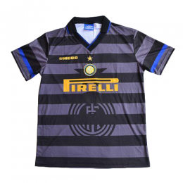 97/98 Inter Milan Europa League Away Black Retro Jerseys Shirt