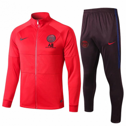 19/20 PSG All Red High Neck Collar Training Kit(Jacket+Trouser)