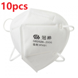 KN95 Dust filter Anti Odor Smog Pollen Safety Protective Face Mask(For Box/10PCS)