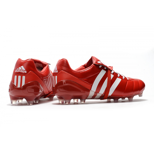 AD X Predator Mania Champagne FG Soccer Cleats-Red