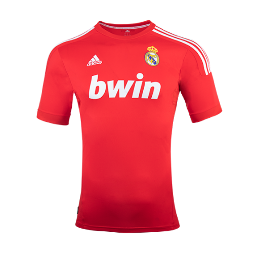 huge selection of d3345 4630e 11-12 Real Madrid Third Away Red Retro Jersey Shirt