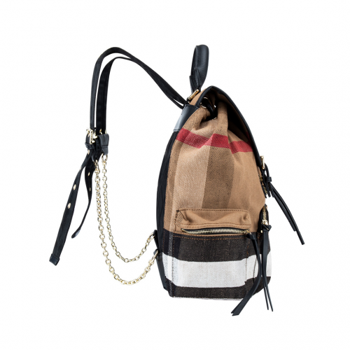 Burberry Rucksack In Cotton And Leather