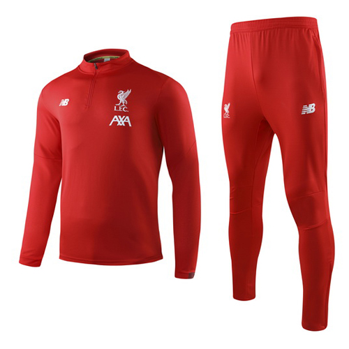 19-20 Liverpool Red Sweat Shirt Kit(Top+Trouser)
