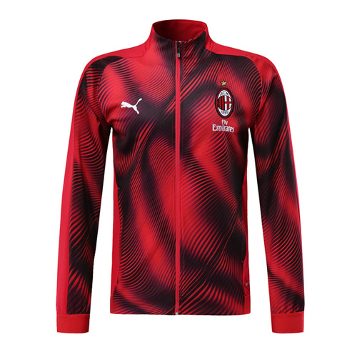 19/20 AC Milan Red High Neck Collar Training Jacket(Player Version)