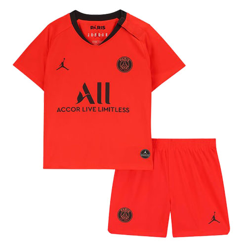 19/20 PSG Away Red&Orange Children's Jerseys Kit(Shirt+Short)