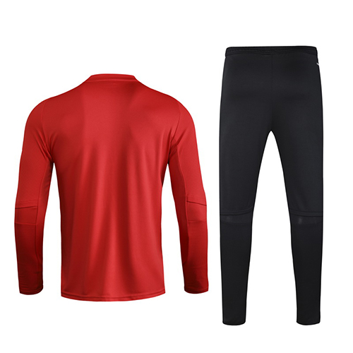 2020 Wales Red Zipper Sweat Shirt Kit(Top+Trouser)