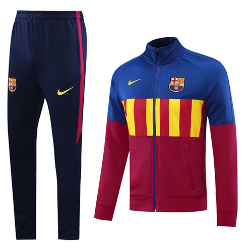 20/21 Barcelona Dark Red High Neck Collar Training Kit(Jacket+Trouser)
