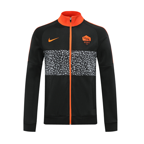 20/21 Roma Black Player Version High Neck Collar Training Jacket