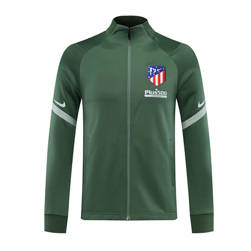 20/21 Atletico Madrid Green Player Version High Neck Collar Training Jacket